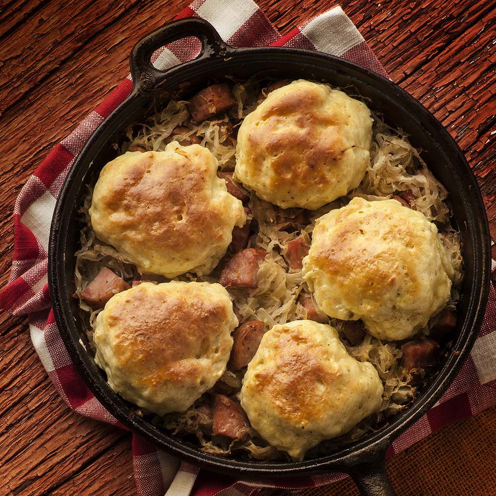 Sauerkraut and Kolbassa Dumplings
