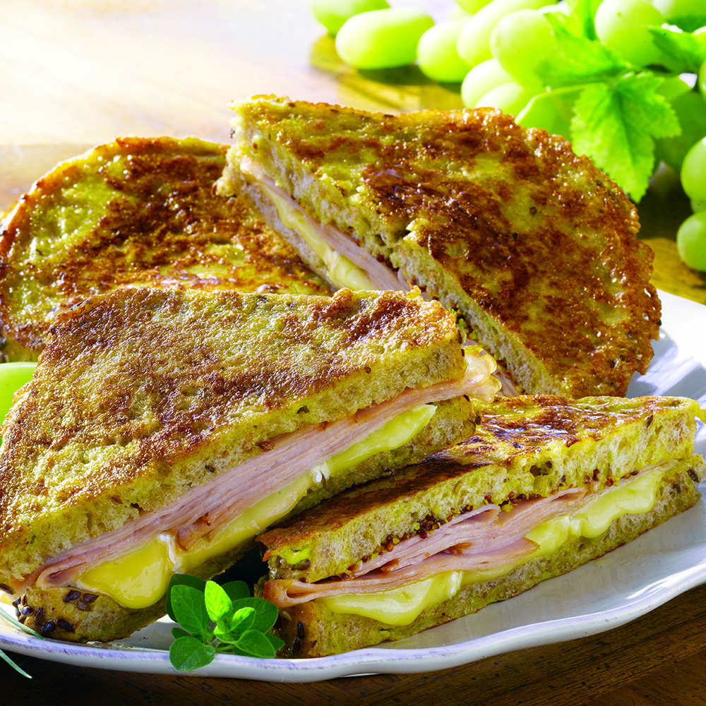 Savory French Toast Stuffed with Black Forest Ham and Brie Cheese