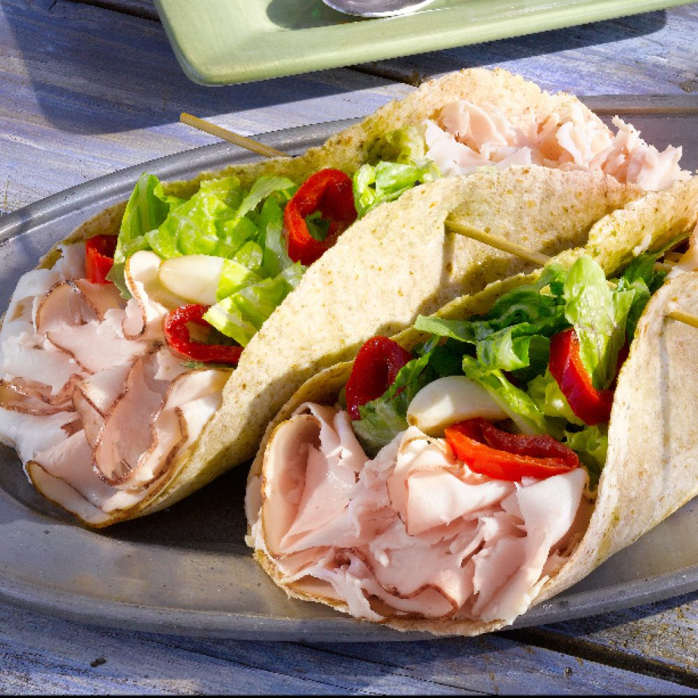 Turkey Tortilla Wraps with Lakeview Triple Treats