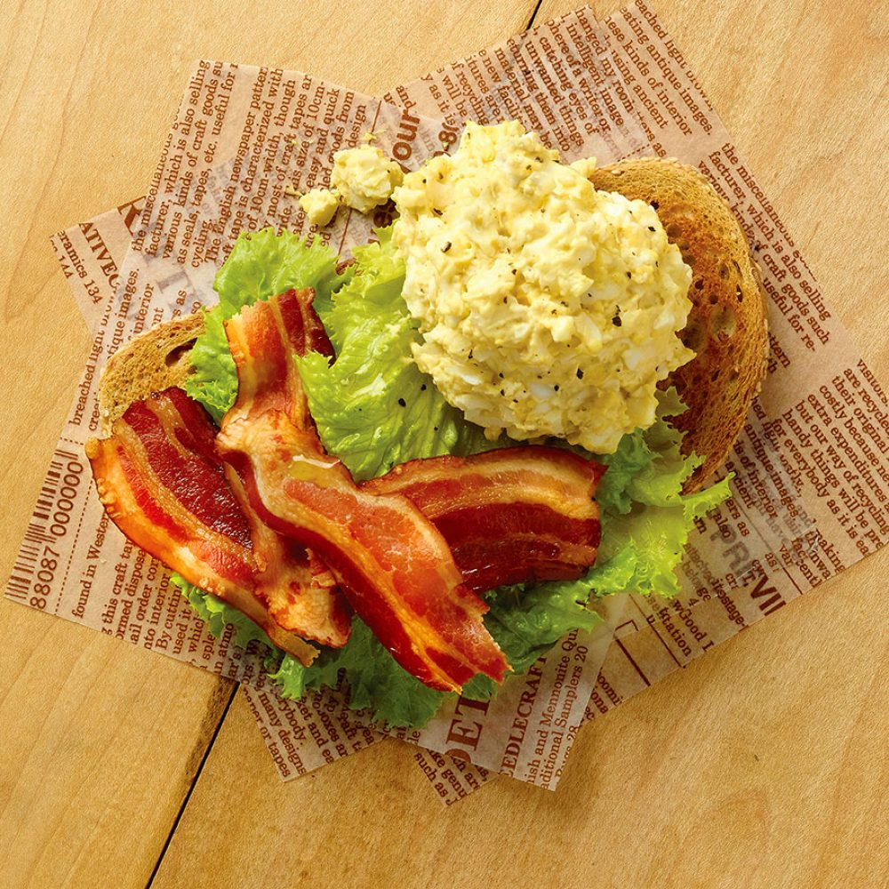 Smoked Side Bacon and Egg Salad Sandwich